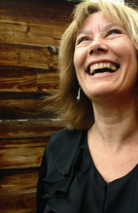Caroline Gilfillan laughing